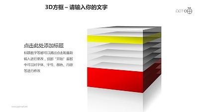 3D方框之彩色内部并列关系正方体PPT素材下载