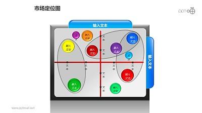 """市场定位图之""""文件夹""""式重点圈出位置分布图形PPT素材下载"""