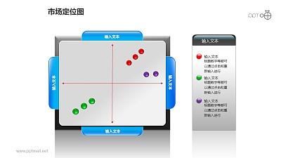 市场定位图之对称圆点位置分布图形PPT素材下载