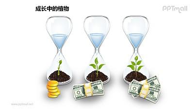 成长中的植物之漏斗中的植物图形素材下载