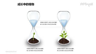 成长中的植物之2部分漏斗中生长植物图形素材下载