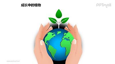 成长中的植物之呵护地球关爱环境图形素材下载