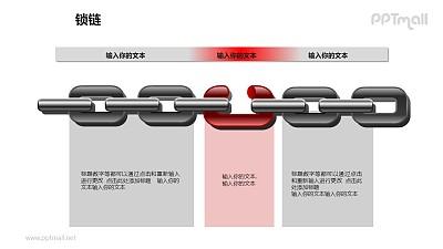 锁链之创意不完整链条递进关系图形素材下载
