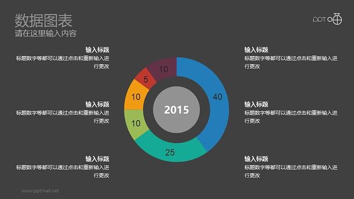扁平化彩色动态圆环图辅文字说明PPT下载_幻灯片预览图2