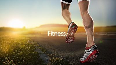 健身跑步全图型PPT模板下载