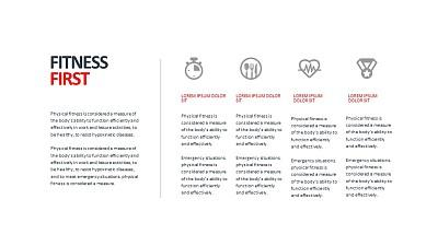 讲解健康生活4个要点的PPT素材下载