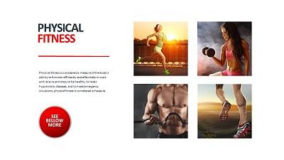 健身知识讲解图文PPT板式下载