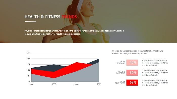 运动健康数据分析PPT模板下载_幻灯片预览图1