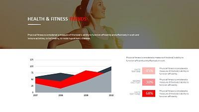 运动健康数据分析PPT模板下载