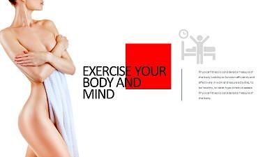 健康人体作息睡眠PPT版式下载