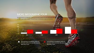 健身跑步数据分析PPT模板下载