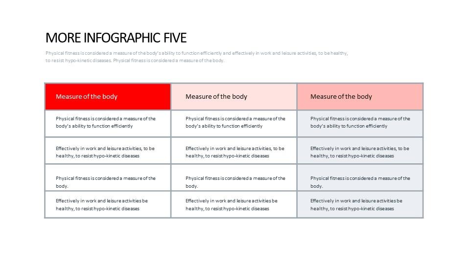 常规表格排版PPT模板