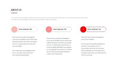 三段带递进关系的文本PPT排版样式