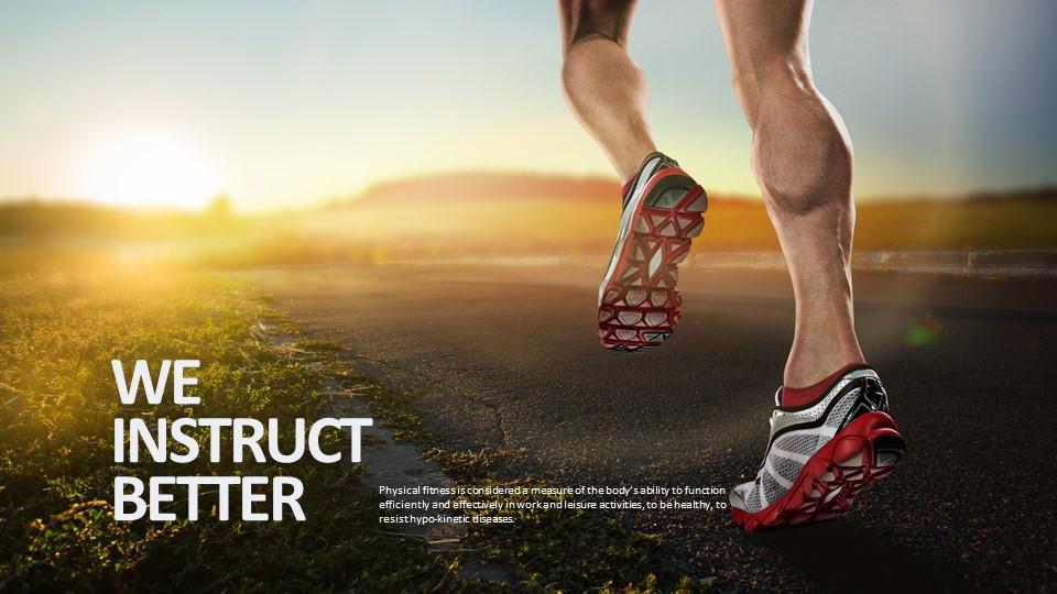 跑步健身/梦想主题PPT版式下载