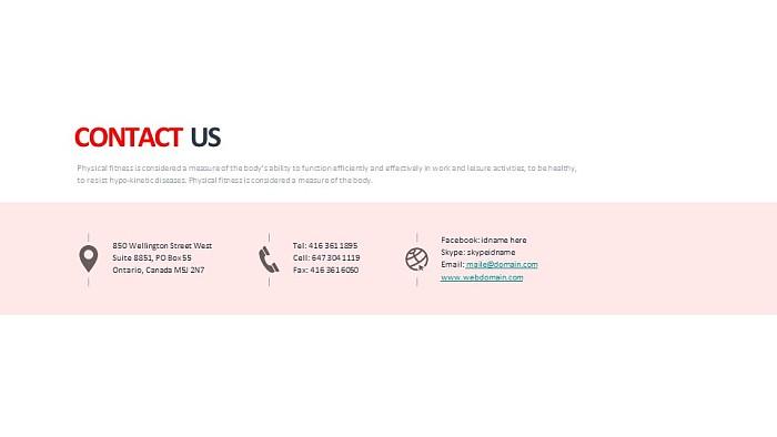 联系我们PPT模板下载