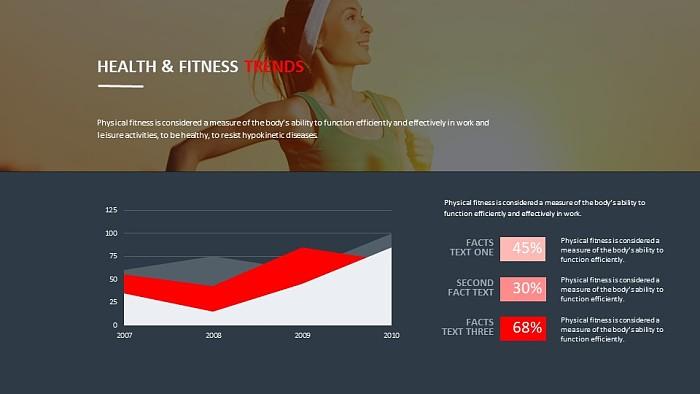 运动健康数据分析PPT模板下载_幻灯片预览图2