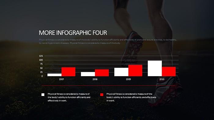健身跑步数据分析PPT模板下载_幻灯片预览图2