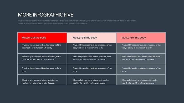 常规表格排版PPT模板_幻灯片预览图2
