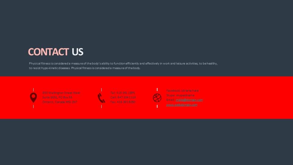 联系我们页PPT样式模板