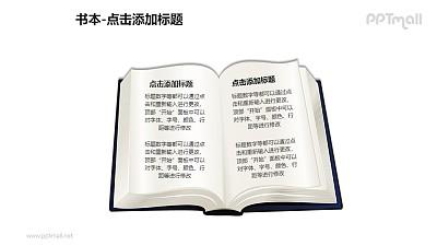 书本——翻开的书PPT图形模板