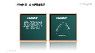 学校科目——2块黑板PPT图形素材