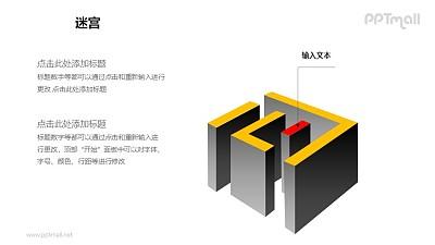 迷宫——迷宫的中心PPT模板下载