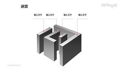 迷宫的层次介绍PPT模板下载