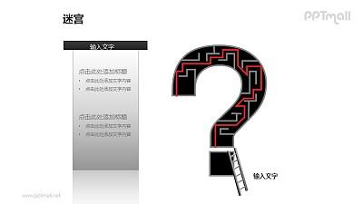问号中的迷宫+梯子PPT模板下载(1)
