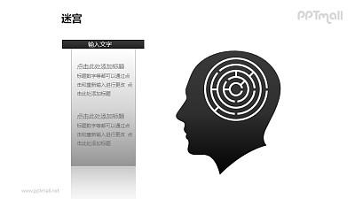 人脑中的迷宫——逻辑思维PPT模板下载
