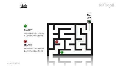 走迷宫——寻找正确的目标PPT模板下载