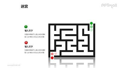 走迷宫——迷宫入口PPT模板下载