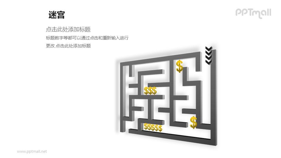 走迷宫——隐藏的商机PPT模板下载