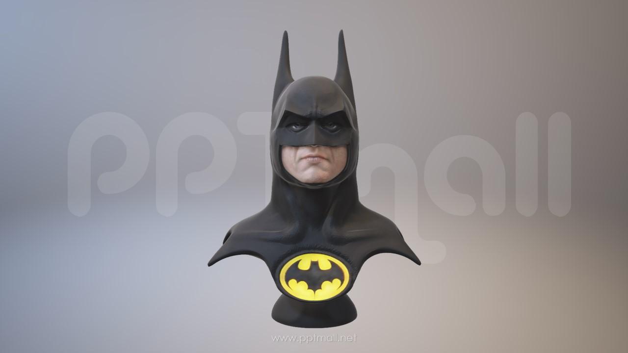 超酷的蝙蝠侠3D模型PPT素材下载