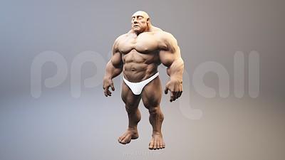 强壮的肌肉男3D PPT模型素材