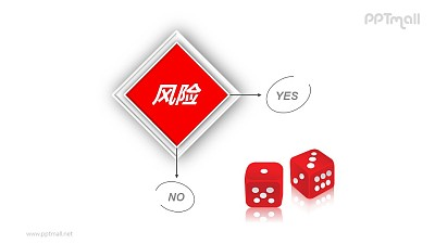 风险管理——选择的风险PPT模板素材