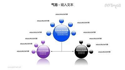 三个气泡总分关系PPT模板素材(2)
