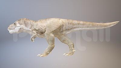 凶猛的3D恐龙PPT模型素材下载