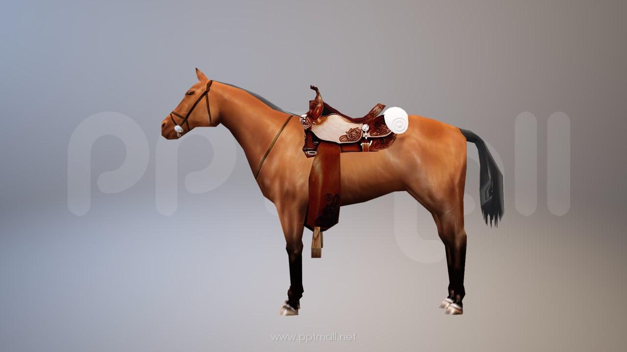 战国时期的3D马匹模型PPT素材下载