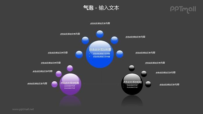 三个气泡总分关系PPT模板素材(2)_幻灯片预览图2