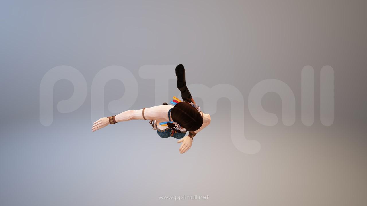 在跳舞丰满的女子3D PPT模型素材