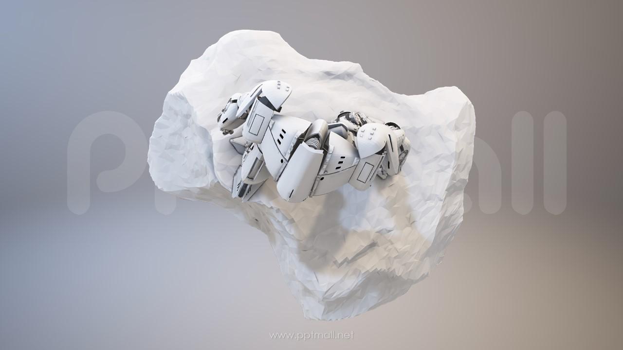 科幻的金属感机器人3D PPT模型素材下载