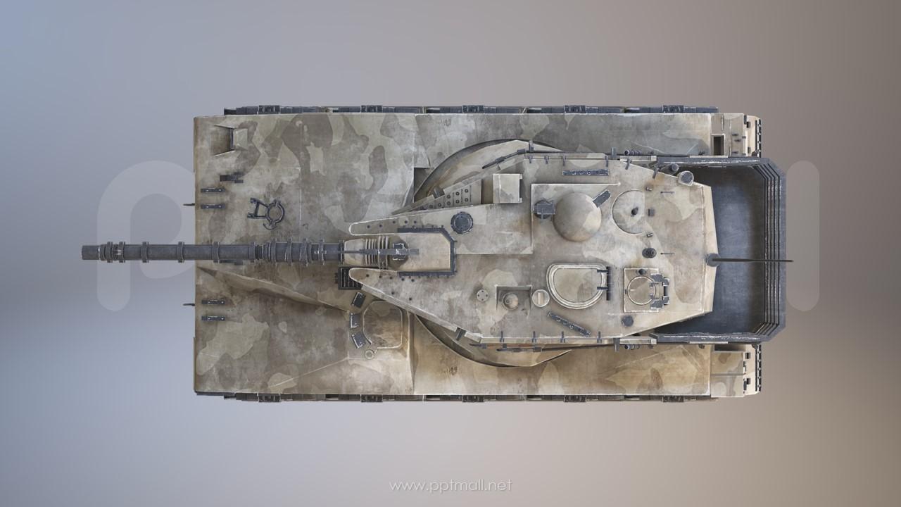 战争武器-坦克3D模型PPT素材