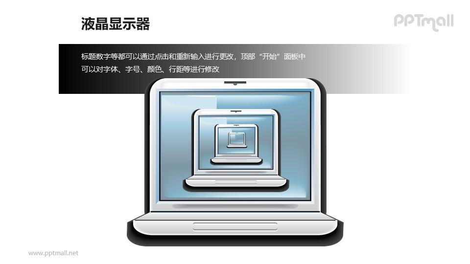 液晶显示器中的液晶显示器PPT模板素材