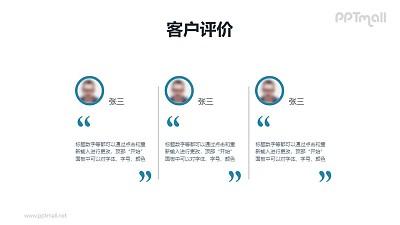 含头像的团队介绍/员工介绍的PPT模板素材