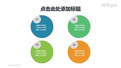 带数字标签的圆形项目列表PPT素材下载