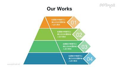 金字体模型描述PPT模板素材