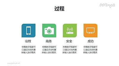 icon+文字说明列表PPT模板素材下载