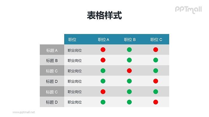 职位/职能描述表PPT模板下载_幻灯片预览图1