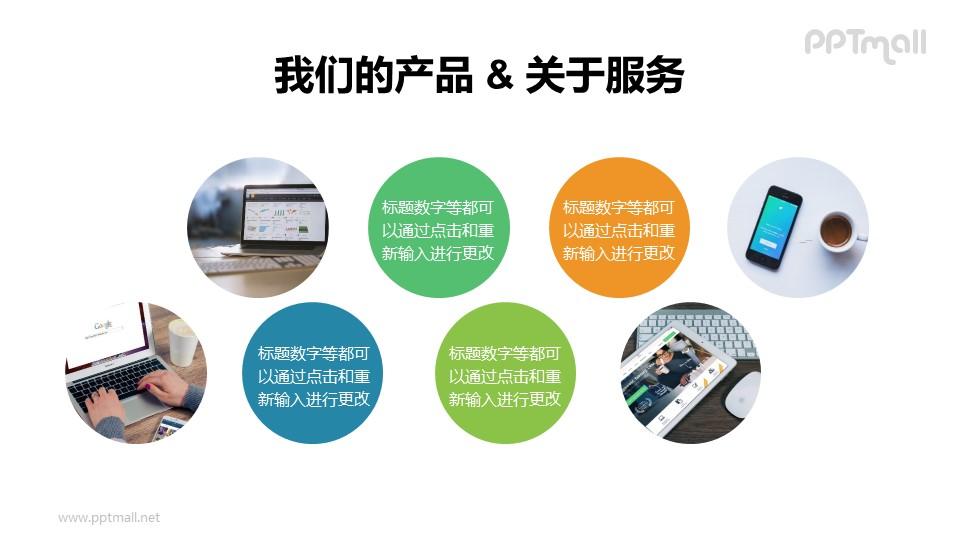 多组圆圈有序排列组成的版式PPT素材下载