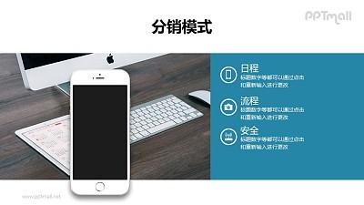 好看的手机UI界面介绍/要点列表/手机样机PPT模板下载